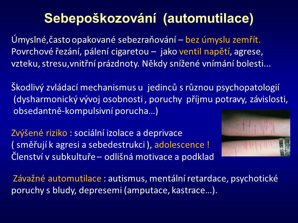 Sebepoškozování (automutilace)