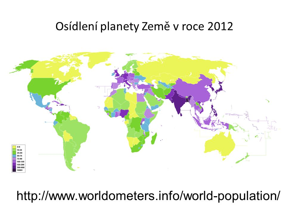 Osídlení planety Země v roce 2012