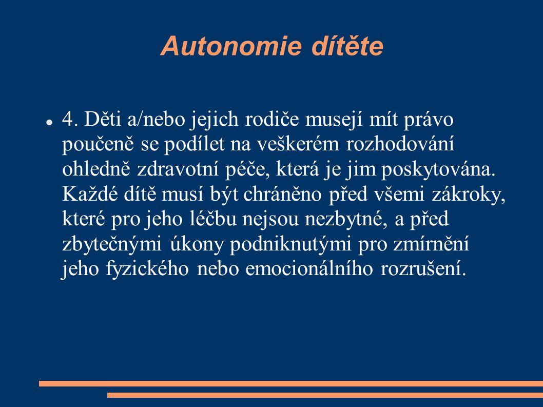 Autonomie dítěte