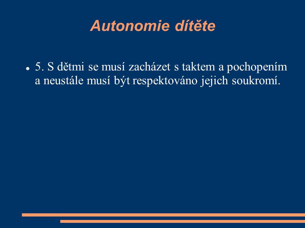 Autonomie dítěte 5.