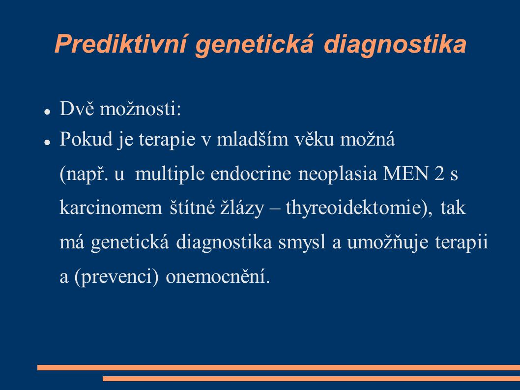 Prediktivní genetická diagnostika