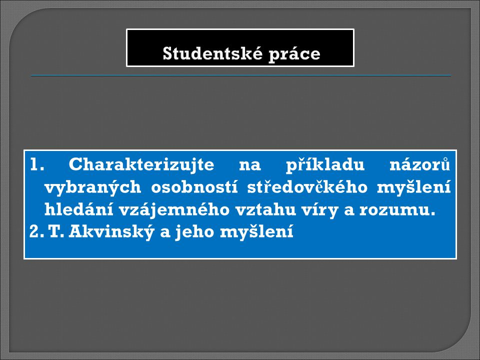 Studentské práce