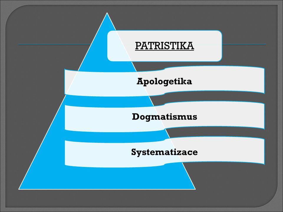 PATRISTIKA Apologetika Dogmatismus Systematizace