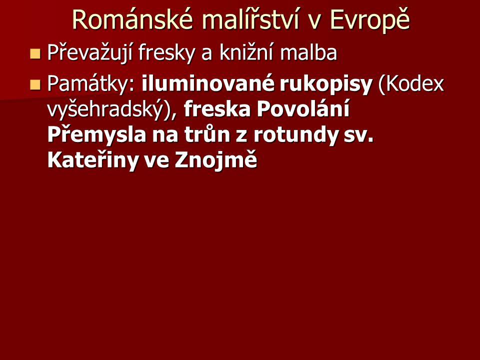 Románské malířství v Evropě