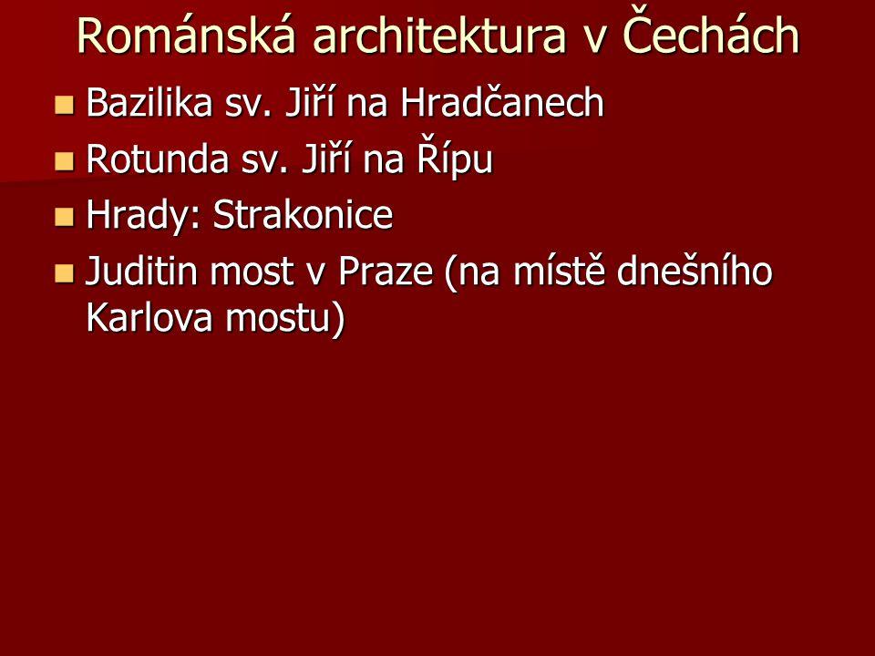 Románská architektura v Čechách