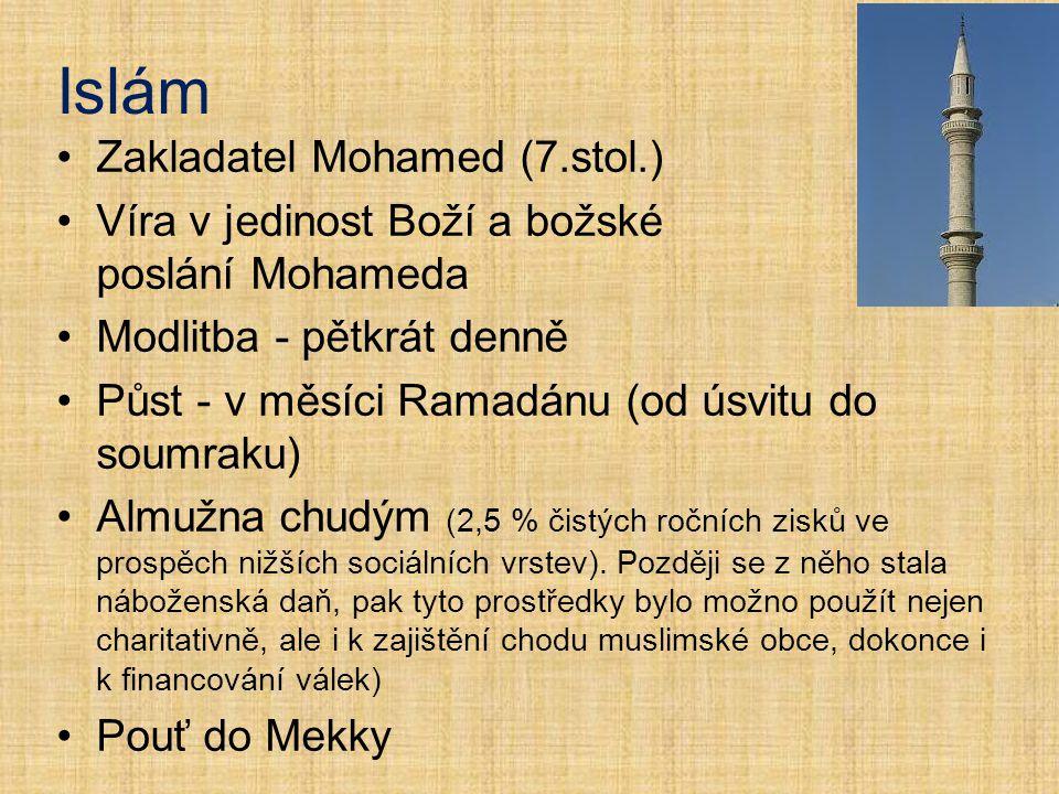 Islám Zakladatel Mohamed (7.stol.)