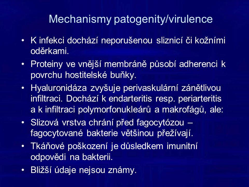 Mechanismy patogenity/virulence