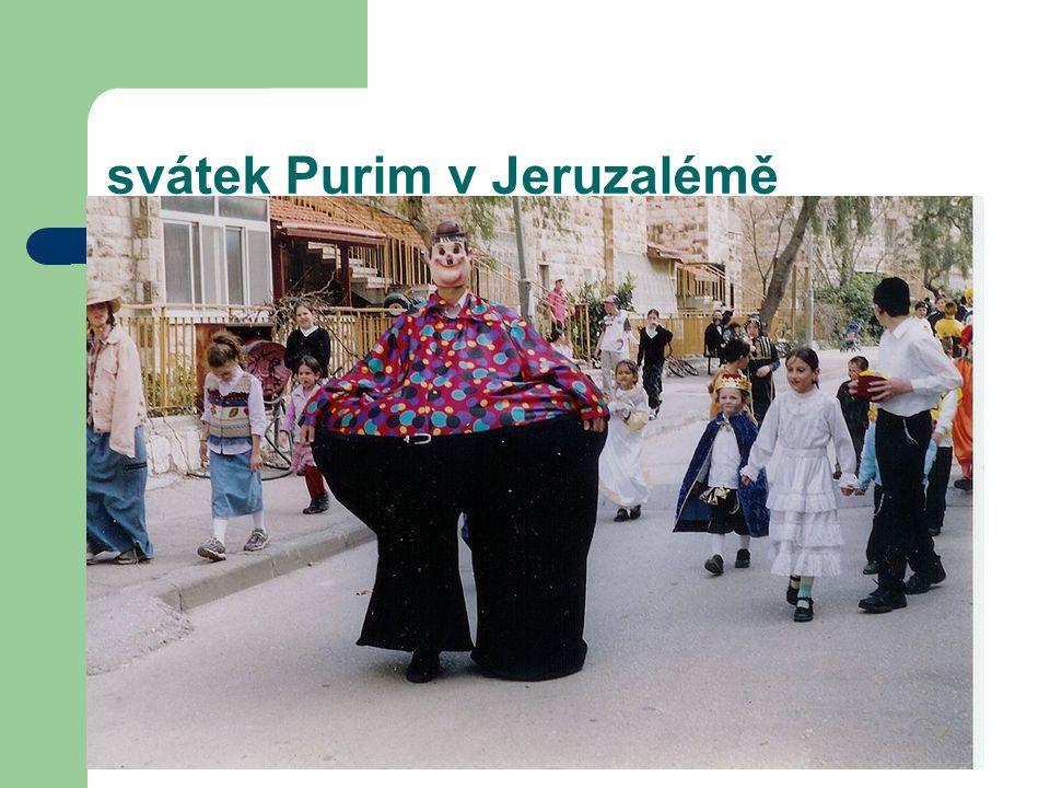 svátek Purim v Jeruzalémě
