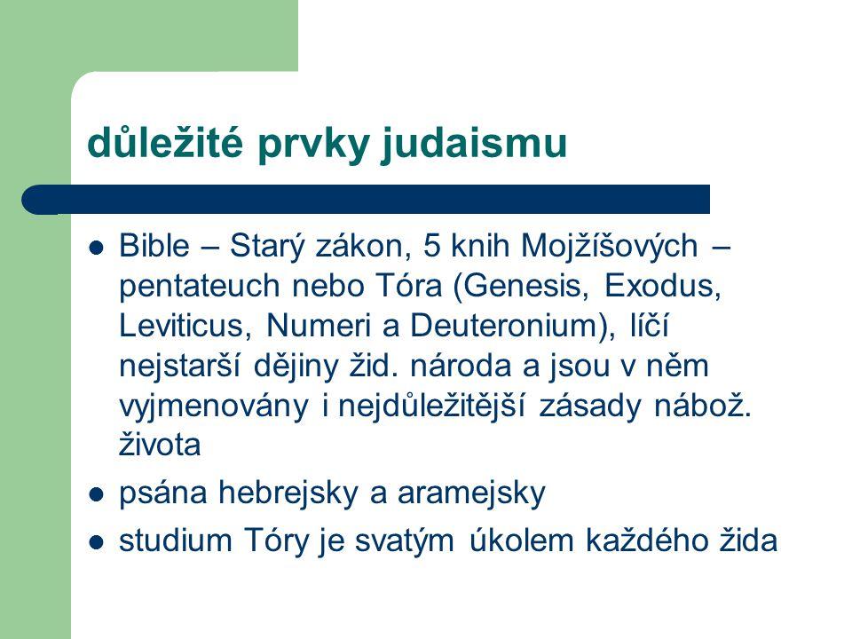 důležité prvky judaismu