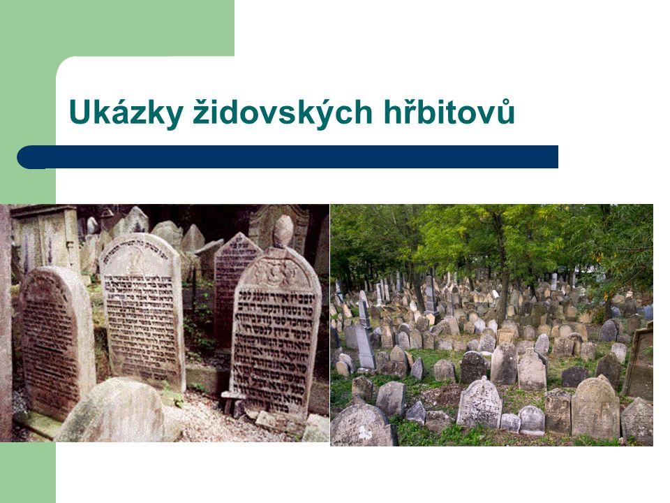 Ukázky židovských hřbitovů