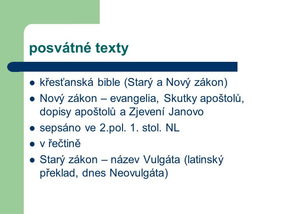posvátné texty křesťanská bible (Starý a Nový zákon)