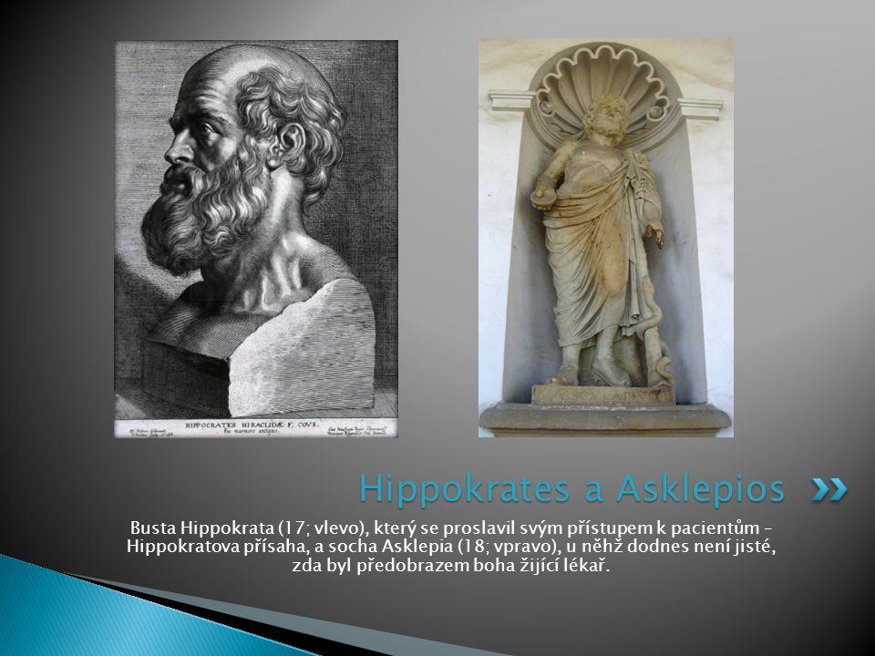 Hippokrates a Asklepios