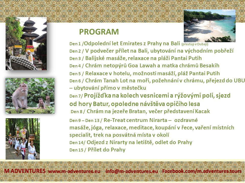PROGRAM od hory Batur, opoledne návštěva opičího lesa