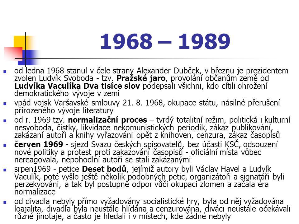 1968 – 1989