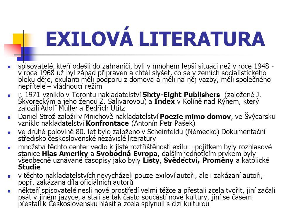 EXILOVÁ LITERATURA