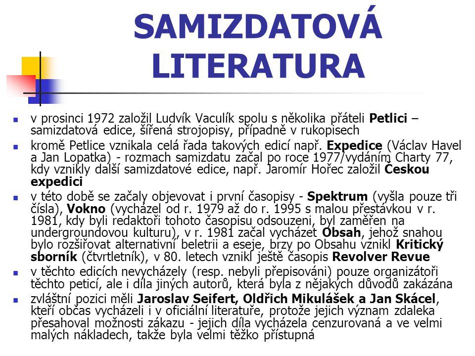 SAMIZDATOVÁ LITERATURA