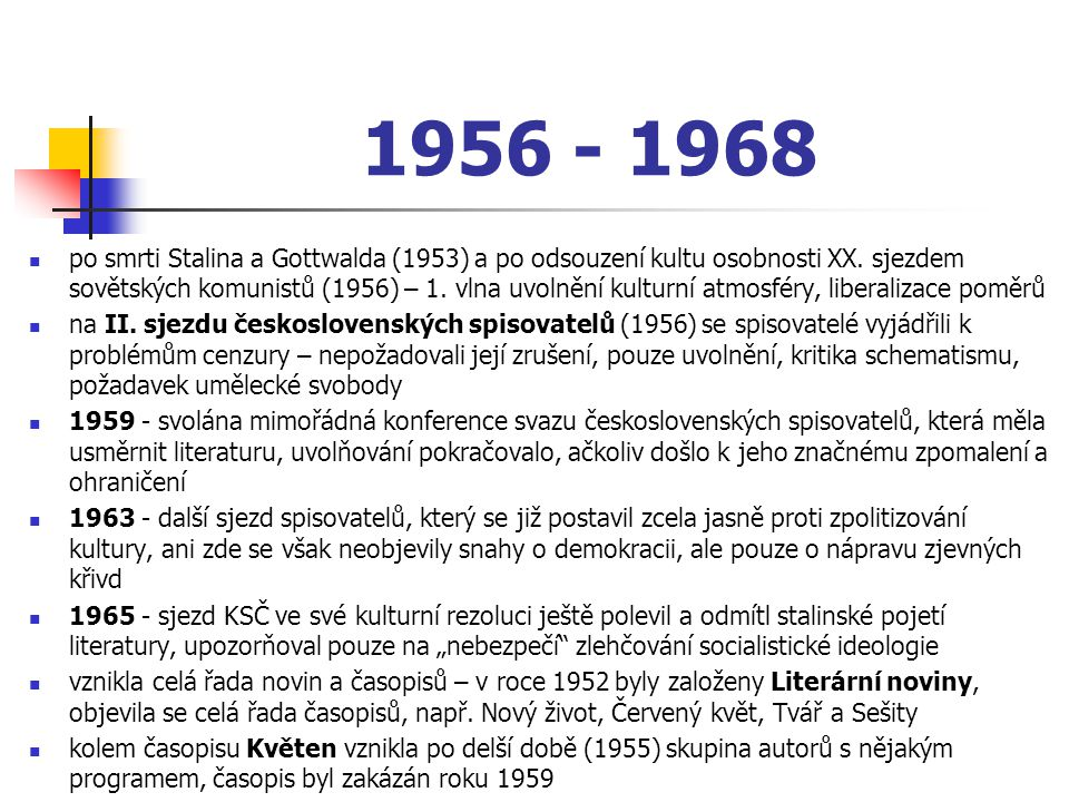 1956 - 1968