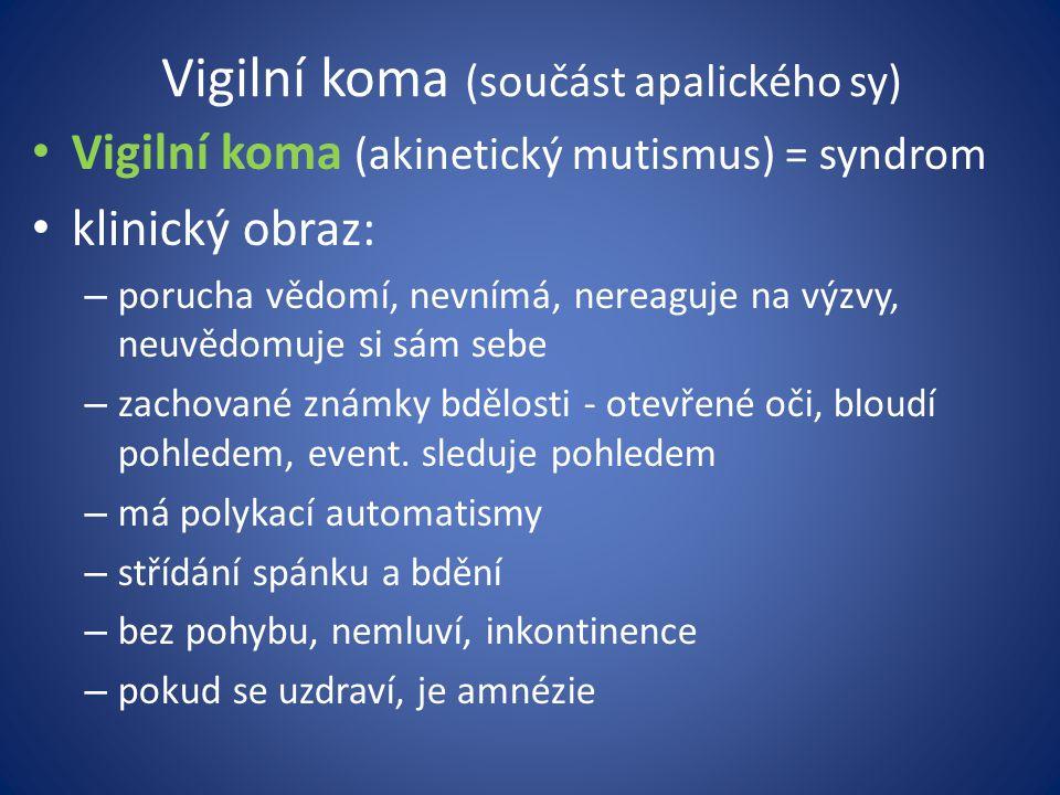 Vigilní koma (součást apalického sy)