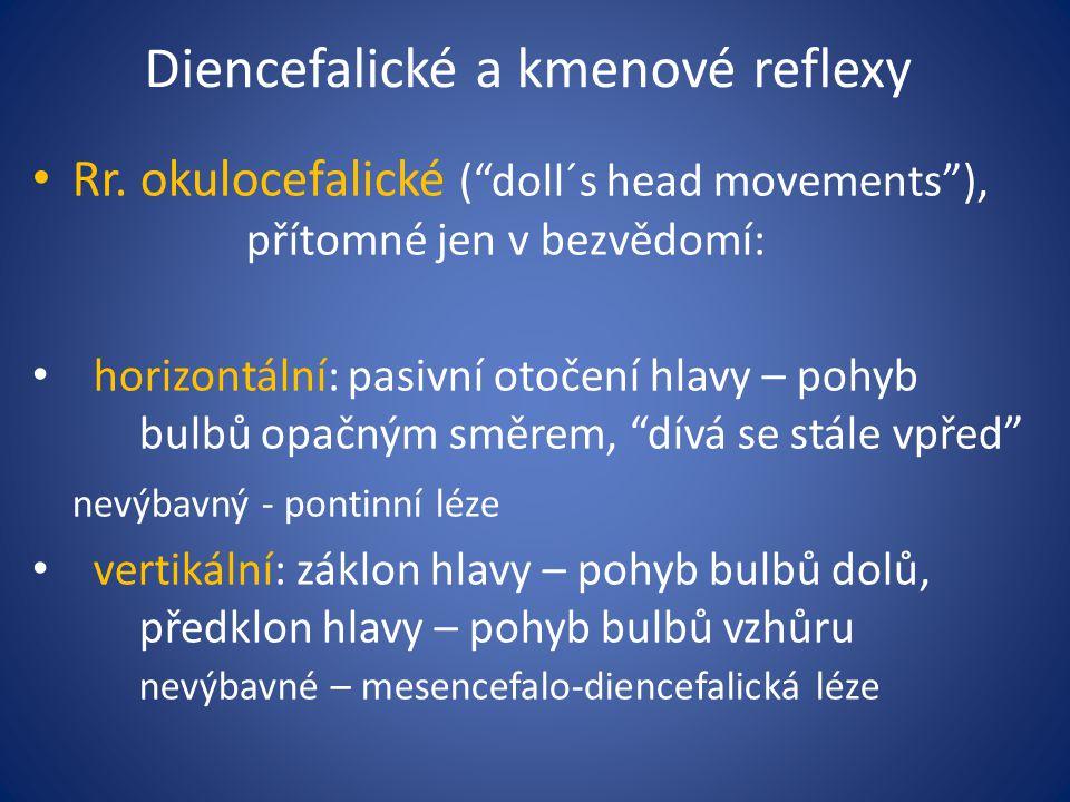 Diencefalické a kmenové reflexy