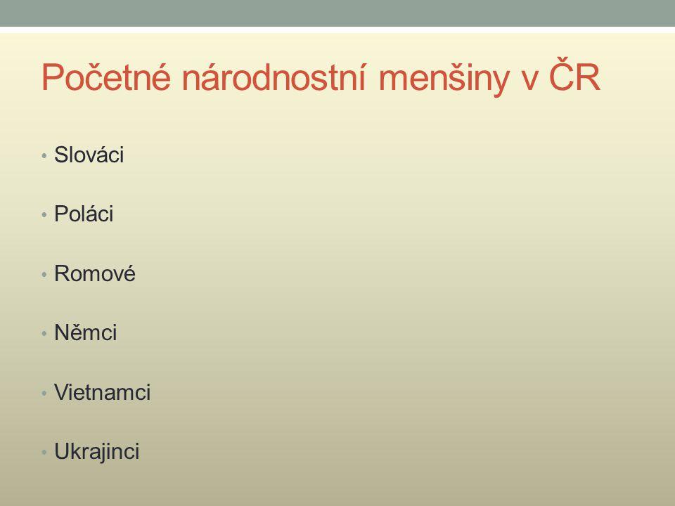 Početné národnostní menšiny v ČR