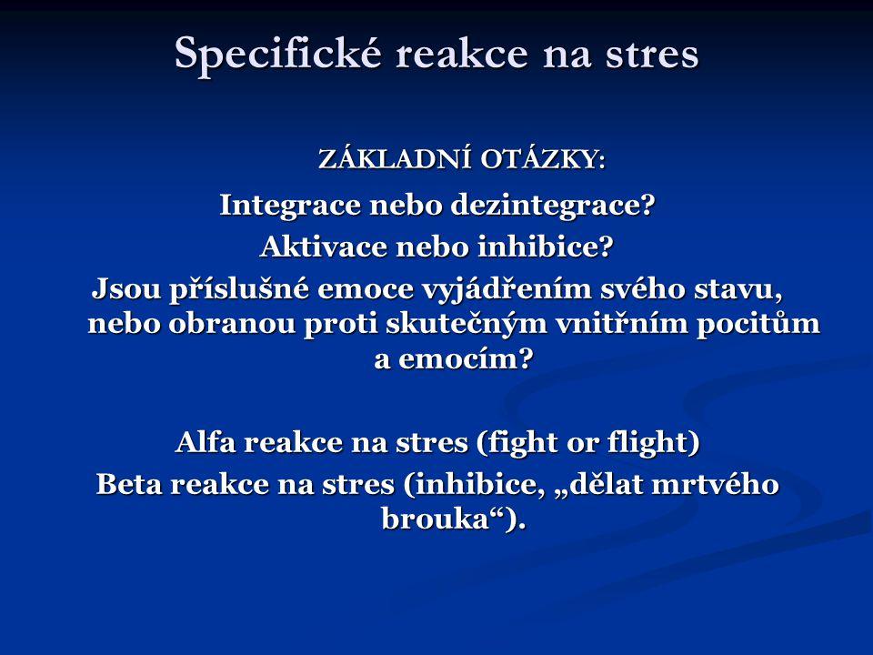 Specifické reakce na stres