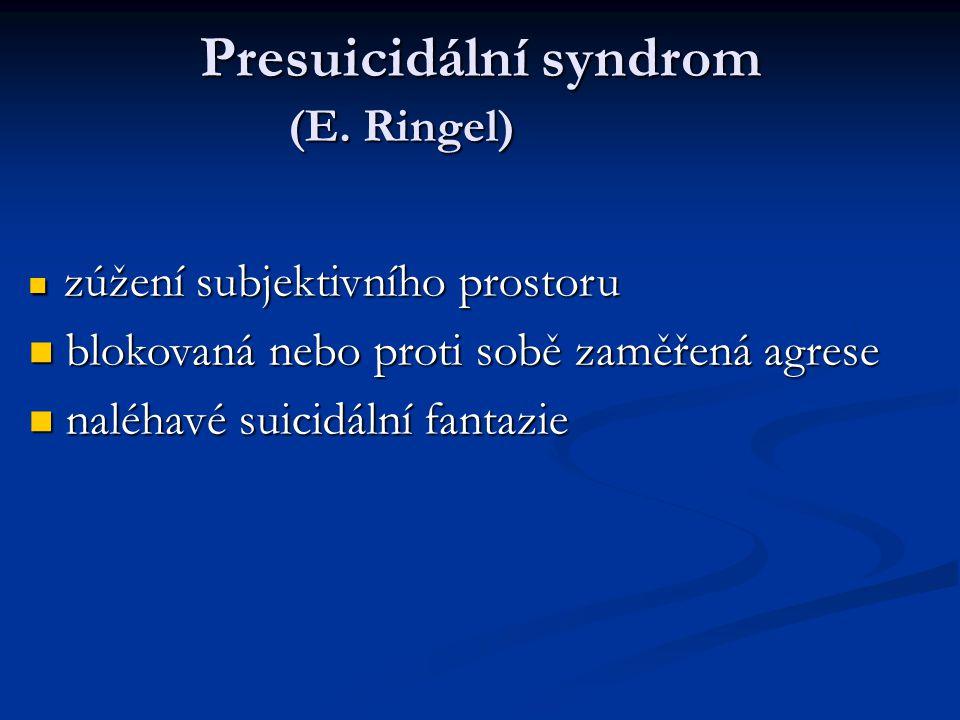 Presuicidální syndrom (E. Ringel)