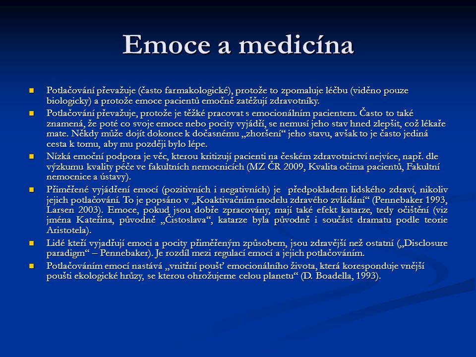 Emoce a medicína