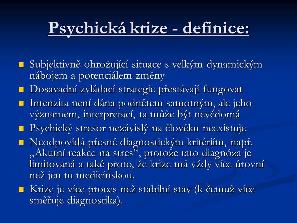 Psychická krize - definice: