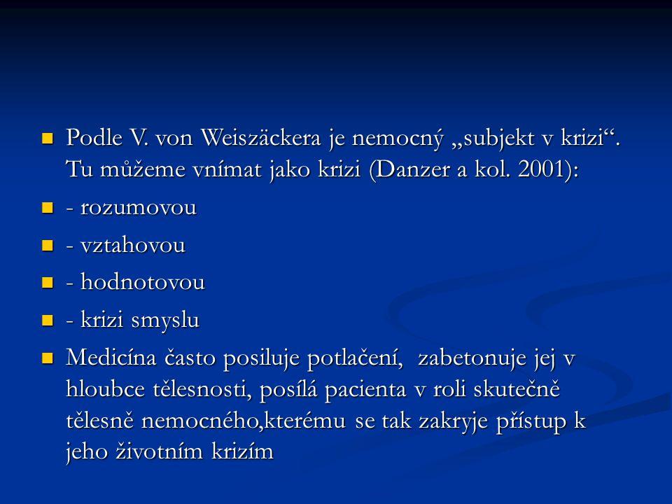 """Podle V. von Weiszäckera je nemocný """"subjekt v krizi"""