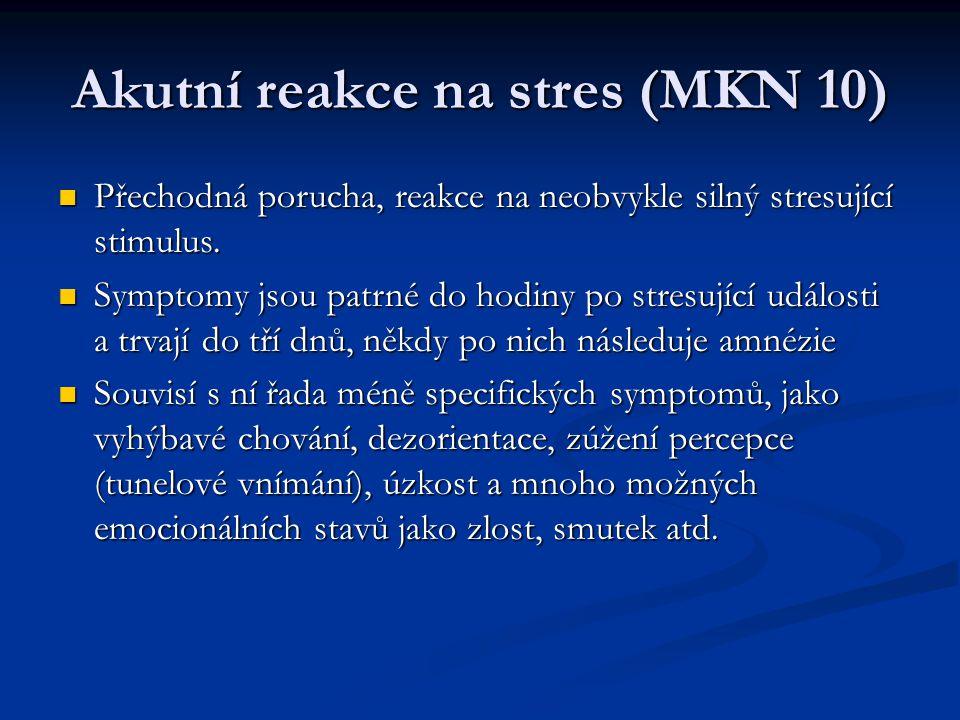 Akutní reakce na stres (MKN 10)