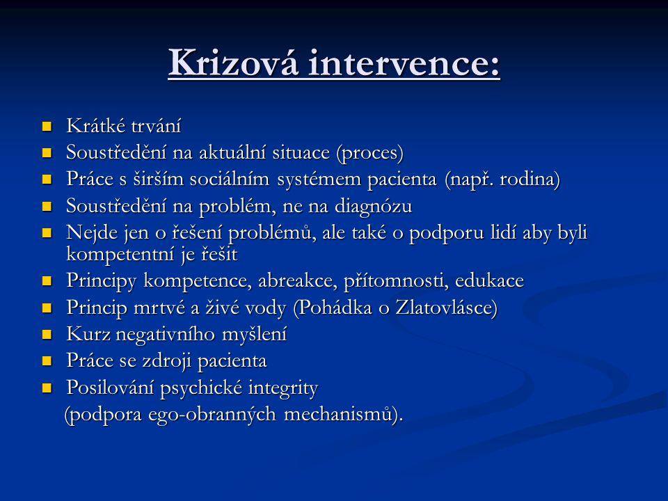 Krizová intervence: Krátké trvání