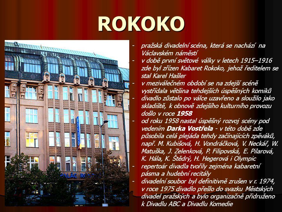 ROKOKO pražská divadelní scéna, která se nachází na Václavském náměstí