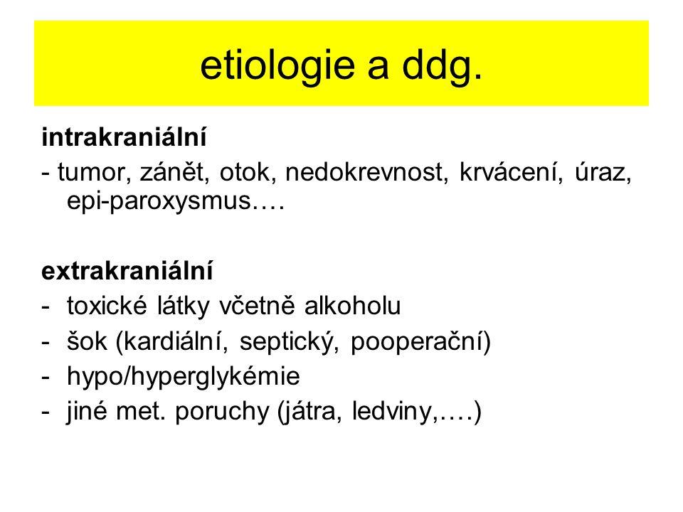 etiologie a ddg. intrakraniální