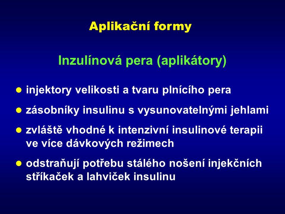 Inzulínová pera (aplikátory)