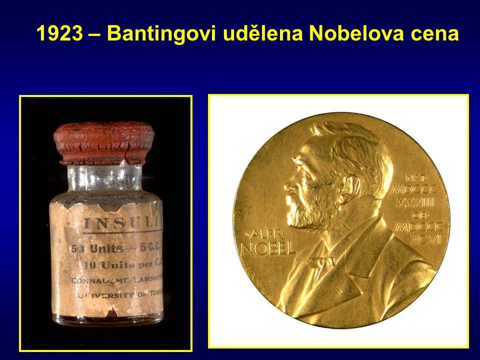 1923 – Bantingovi udělena Nobelova cena