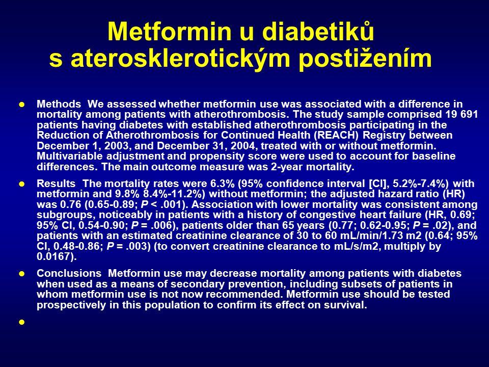 Metformin u diabetiků s aterosklerotickým postižením