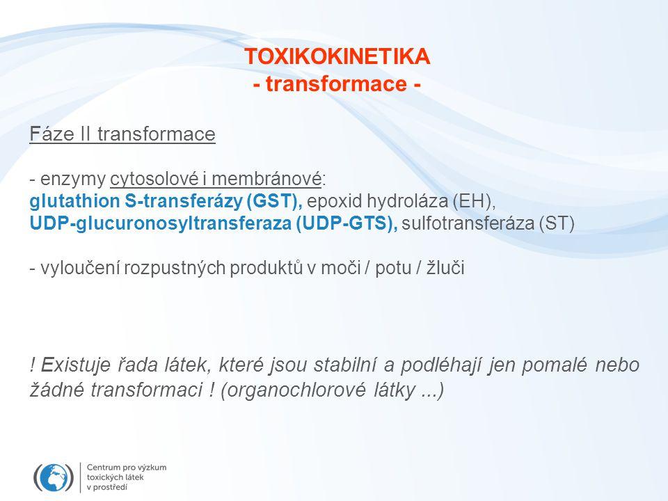 TOXIKOKINETIKA - transformace -