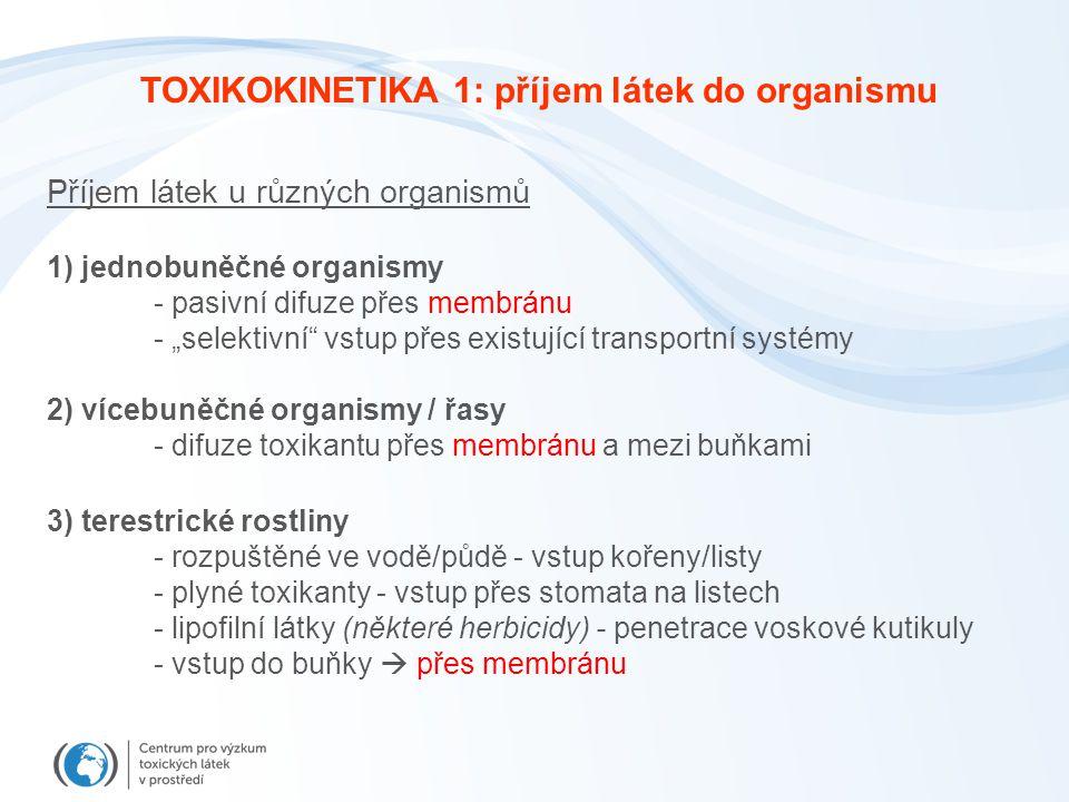 TOXIKOKINETIKA 1: příjem látek do organismu