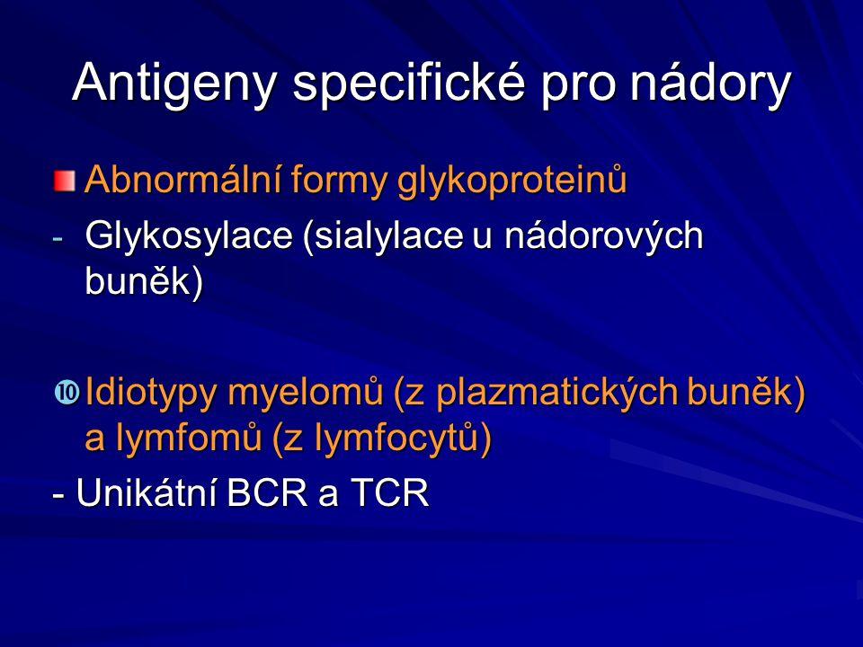 Antigeny specifické pro nádory