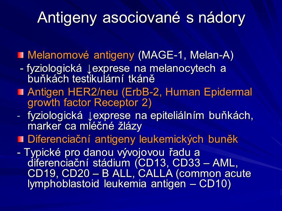 Antigeny asociované s nádory
