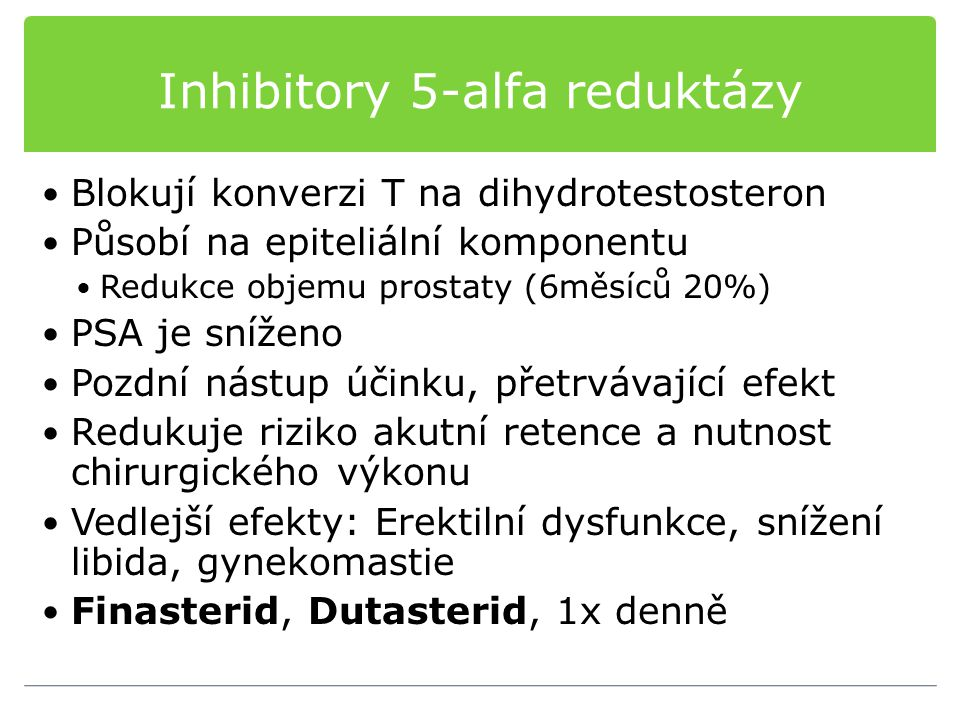 Inhibitory 5-alfa reduktázy