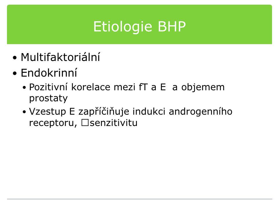 Etiologie BHP Multifaktoriální Endokrinní