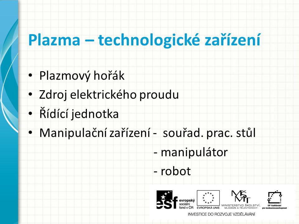 Plazma – technologické zařízení