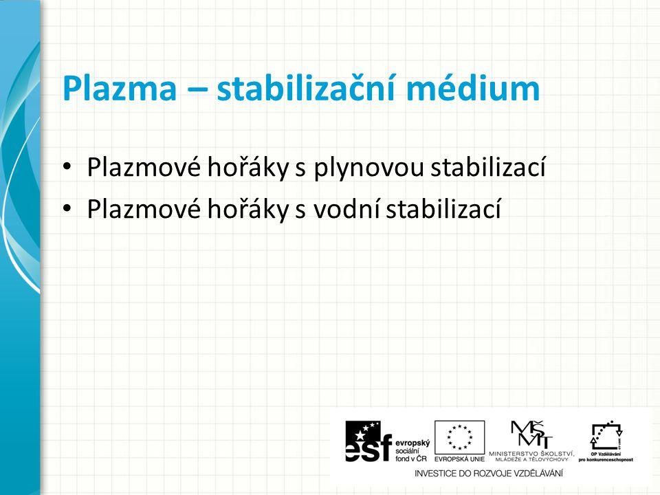 Plazma – stabilizační médium