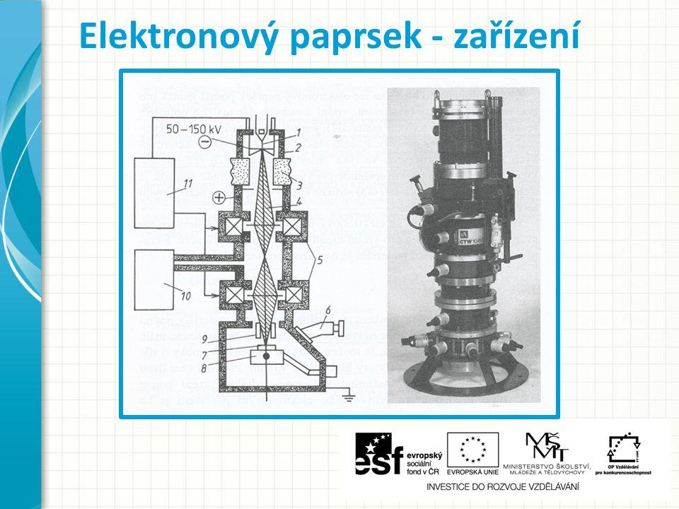 Elektronový paprsek - zařízení