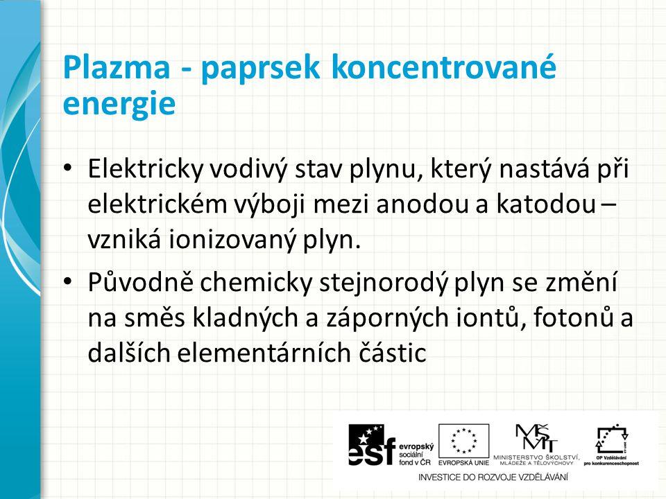 Plazma - paprsek koncentrované energie