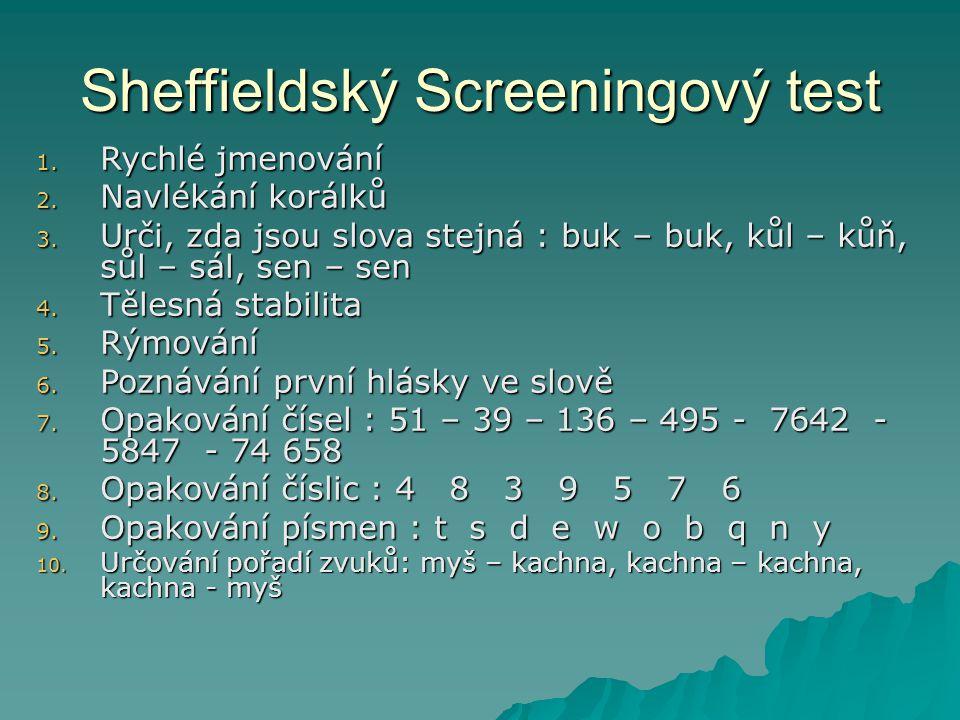 Sheffieldský Screeningový test