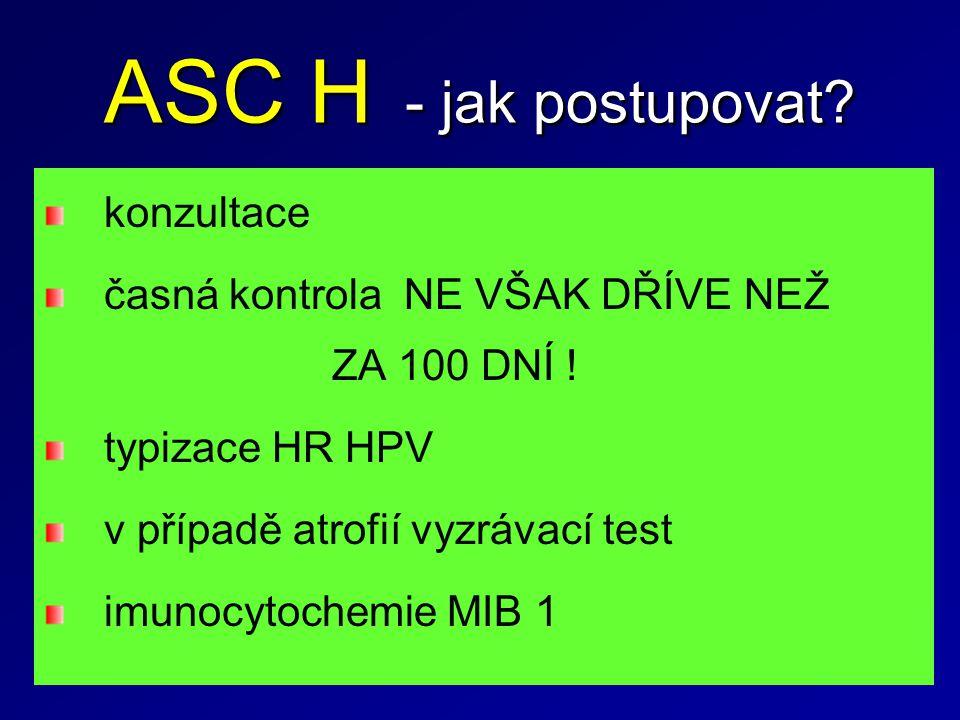 ASC H - jak postupovat konzultace