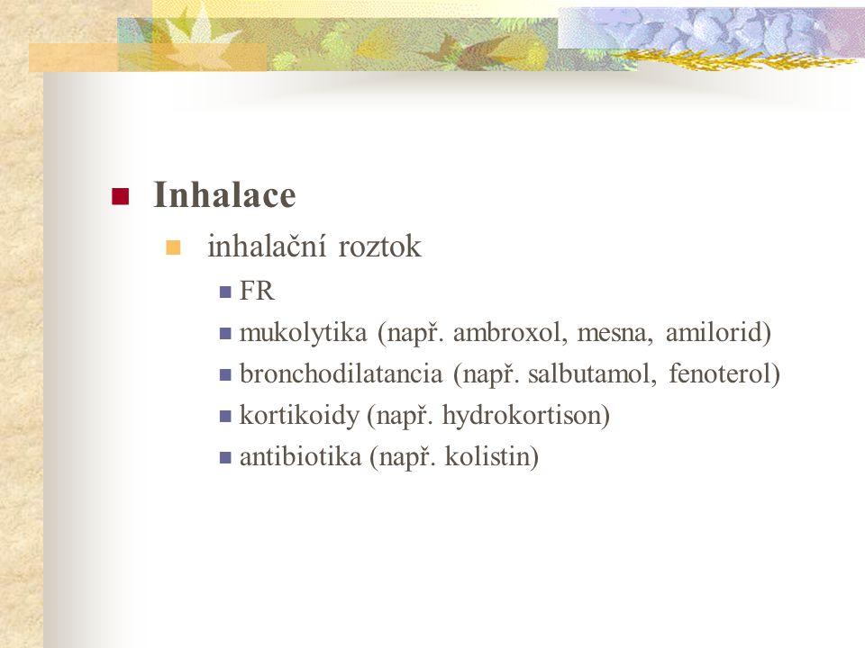 Inhalace inhalační roztok FR