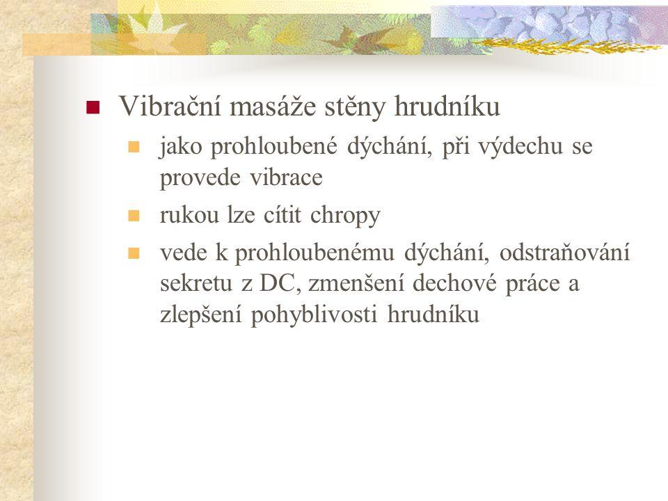 Vibrační masáže stěny hrudníku